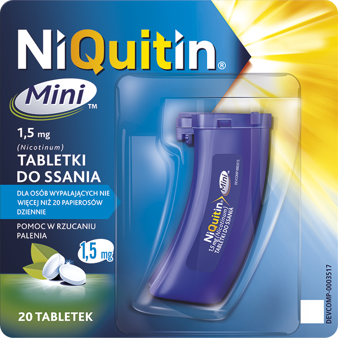 NiQuitin Mini 1,5mg - tabletki do ssania