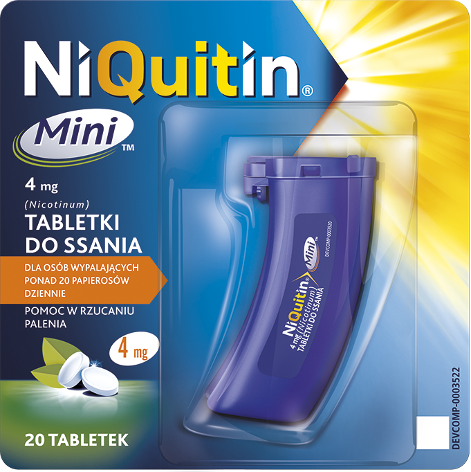 NiQuitin Mini 4mg - tabletki do ssania
