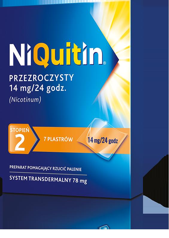 NiQuitin przezroczysty 14mg / 24h - plastry