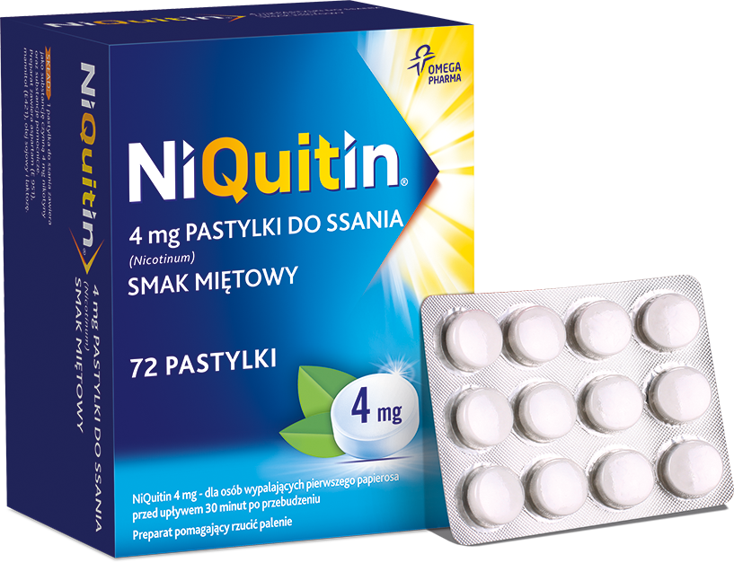 NiQuitin 4mg - pastylki do ssania