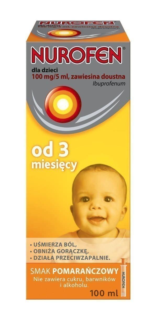 Nurofen dla dzieci od 3 miesiąca 100mg/5ml pomarańczowy