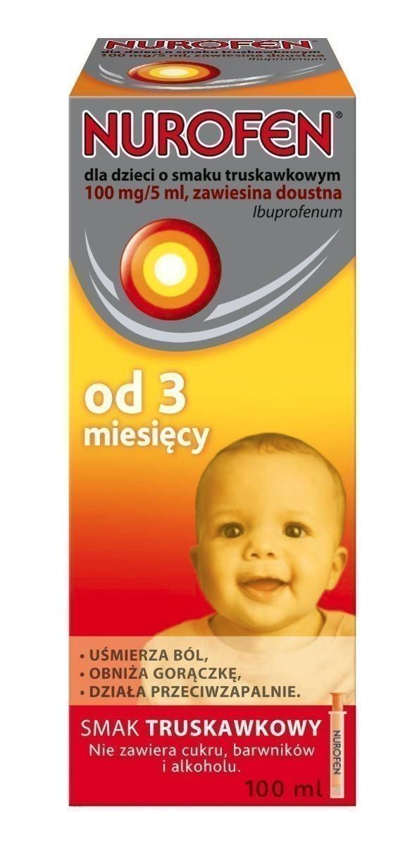 Nurofen dla dzieci od 3 miesiąca 100mg/ml truskawkowy