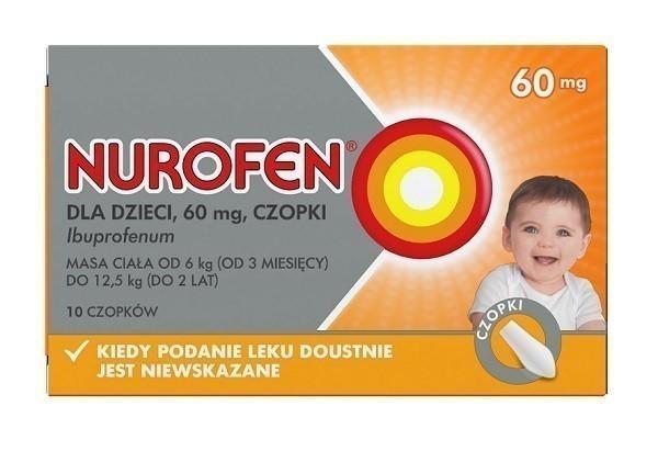 Nurofen Dla Dzieci 60 mg 10 Czopków