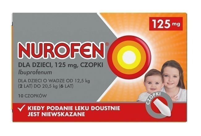 Nurofen Dla Dzieci 125 mg 10 Czopków