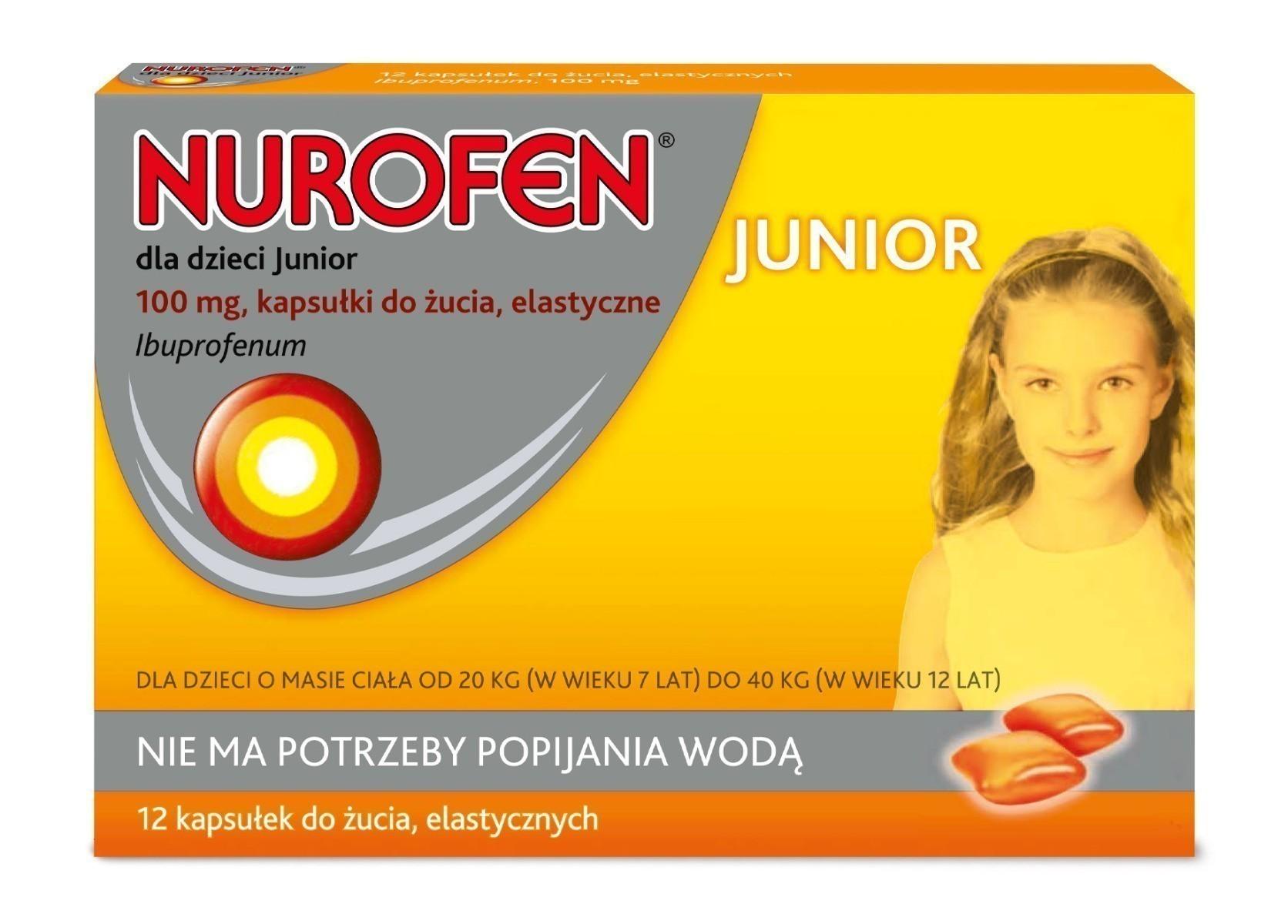 Nurofen dla dzieci Junior kapsułki do żucia