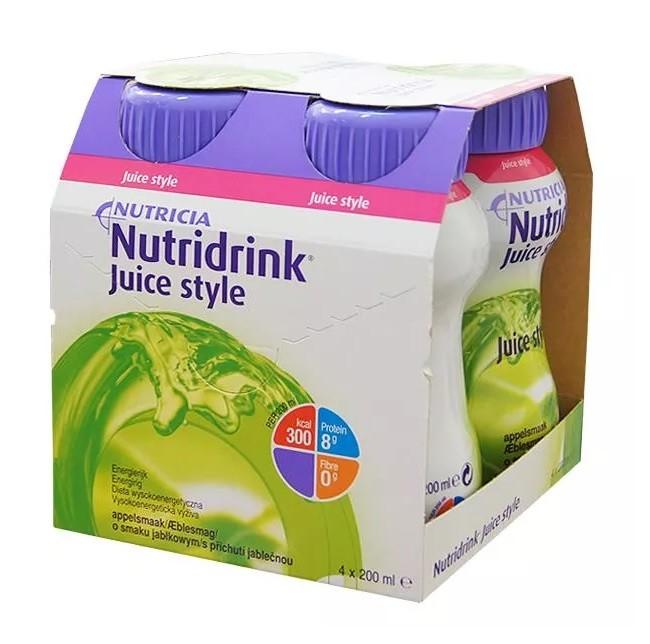 Nutridrink Juice Style Smak Jabłkowy 4x200 ml