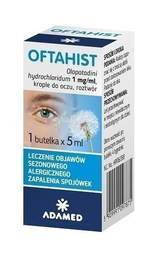 Oftahist 0,1% Krople do oczu 5 ml