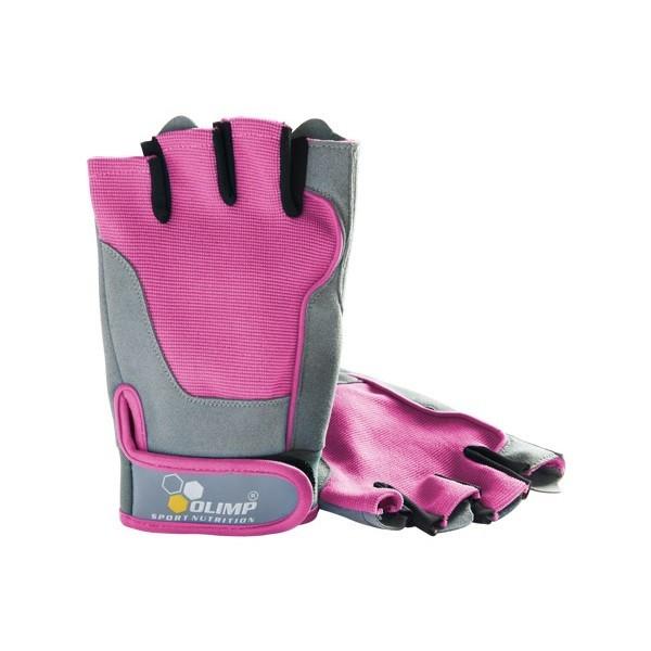 Olimp rękawice treningowe fitness różowe rozm. S