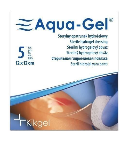 Aqua-Gel Opatrunek Hydrożelowy 12x12cm 1 szt.