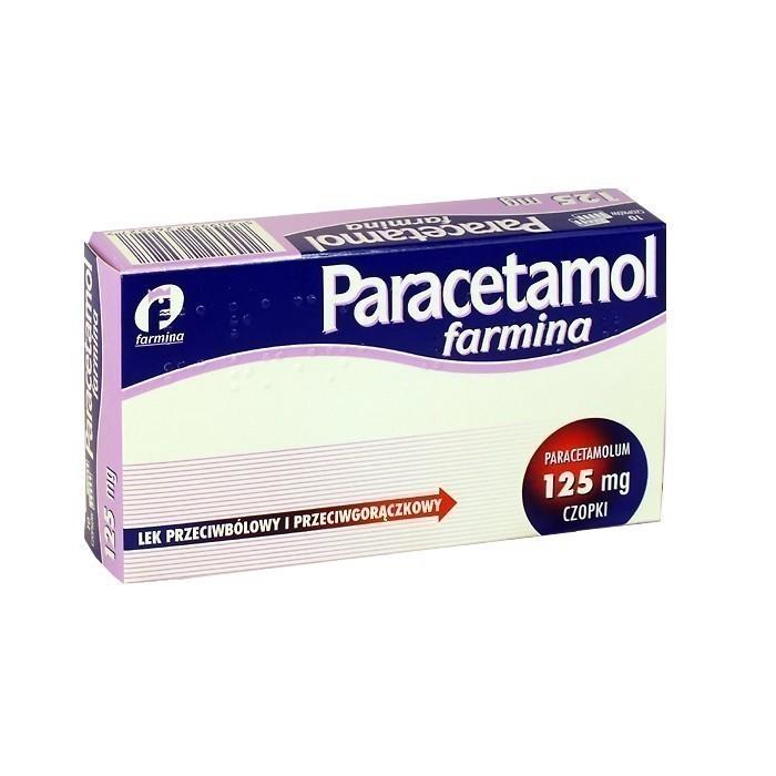 Paracetamol Farmina 125 mg 10 Czopków