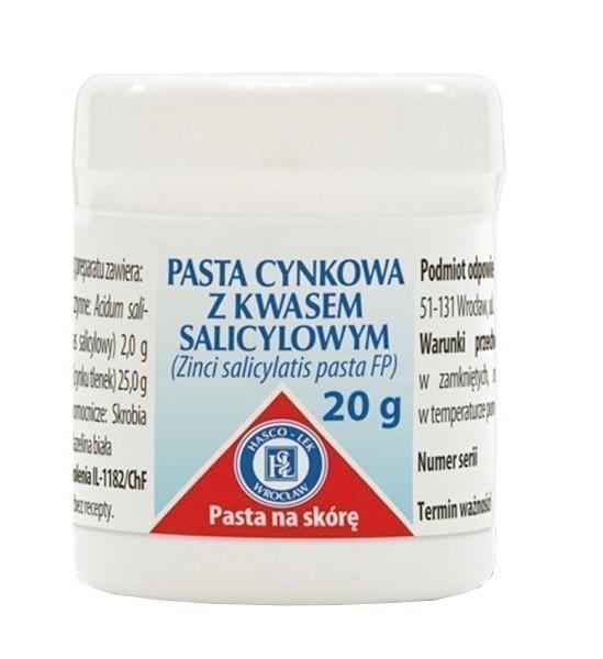 Pasta Cynkowa z Kwasem Salicylowym 20g