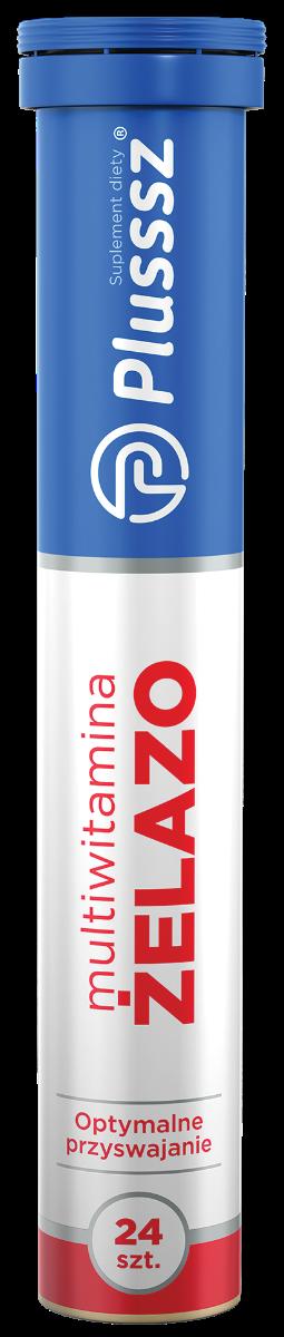 Plusssz Żelazo + Multiwitamina - tabletki musujące
