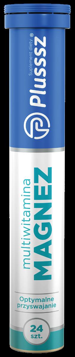 Plusssz Magnez + Multiwitamina - tabletki musujące