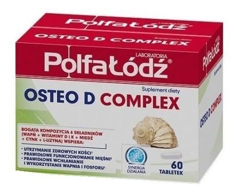 Laboratoria Polfa Łódź Osteo D Complex 60 Tabletek