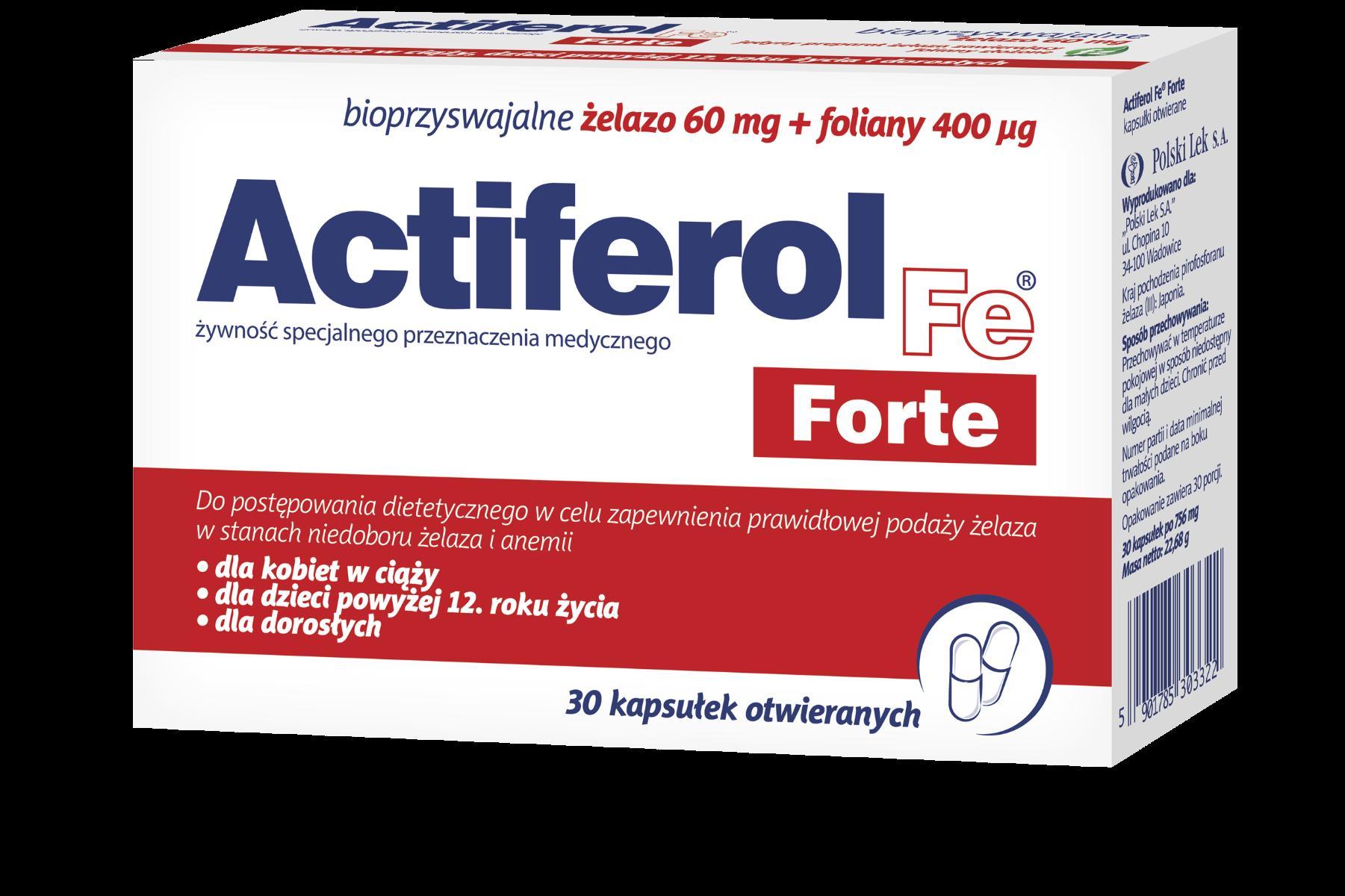 Actiferol Fe Forte - kapsułki