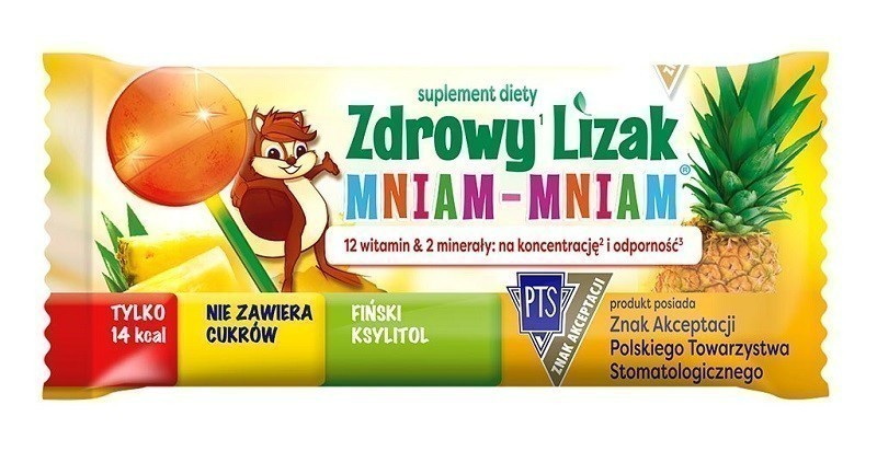 Zdrowy Lizak Mniam-Mniam Ananas 1 szt.
