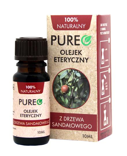 Pureo Naturalny Olejek Eteryczny Drzewo Sandałowe 10 ml