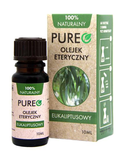 Pureo Naturalny Olejek Eteryczny Eukaliptusowy 10 ml