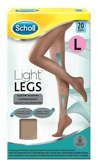 Scholl Light Legs rajstopy uciskowe 20 DEN cieliste L