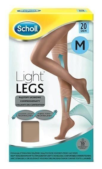 Scholl Light Legs rajstopy uciskowe 20 DEN cieliste M