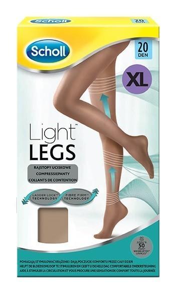 Scholl Light Legs rajstopy uciskowe 20 DEN cieliste XL