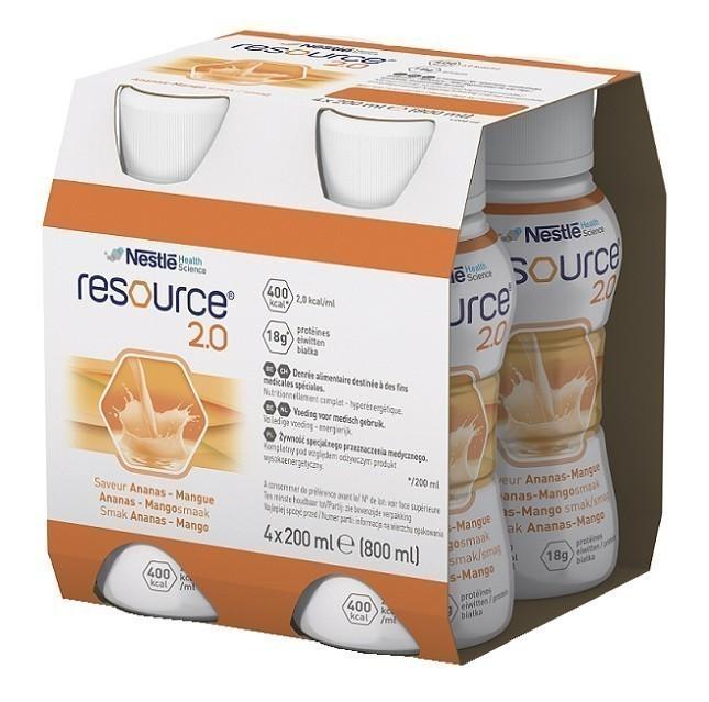 Resource 2.0 Smak Ananas Mango 4x200 ml