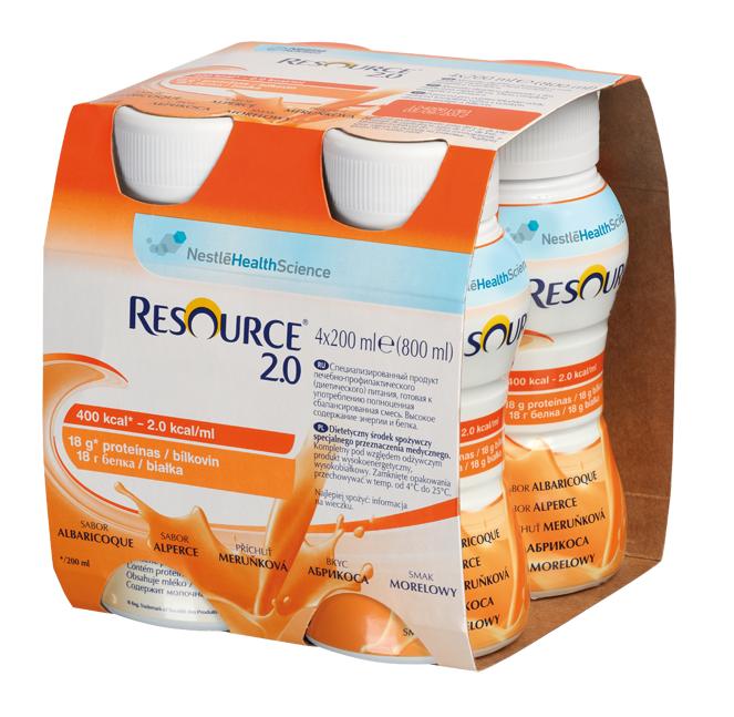 Resource 2.0 Smak Morelowy 4x200 ml