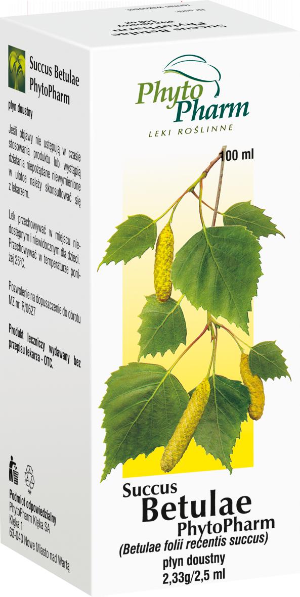 Succus Betulae - sok z liści brzozy