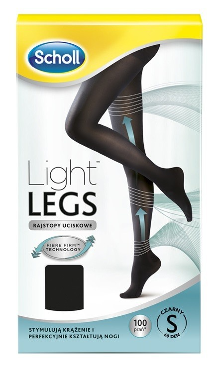 Scholl Light Legs Rajstopy Uciskowe 60 DEN Czarne S