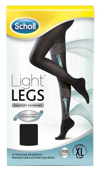 Scholl Light Legs Rajstopy Uciskowe 60 DEN Czarne XL