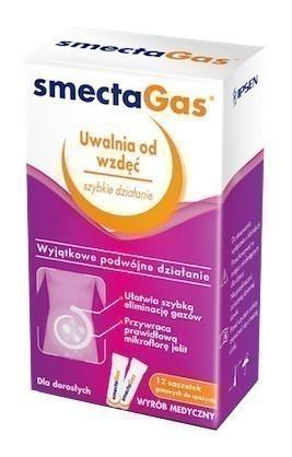 Smecta GAS Proszek do sporządzania zawiesiny doustnej 12 saszetek