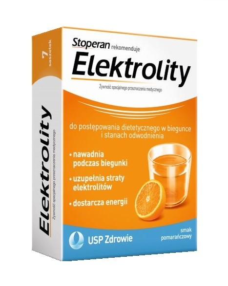 Elektrolity Smak Pomarańczowy 7 Saszetek