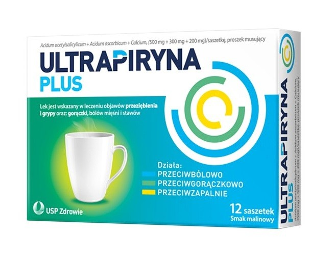 Ultrapiryna Plus 12 Saszetek