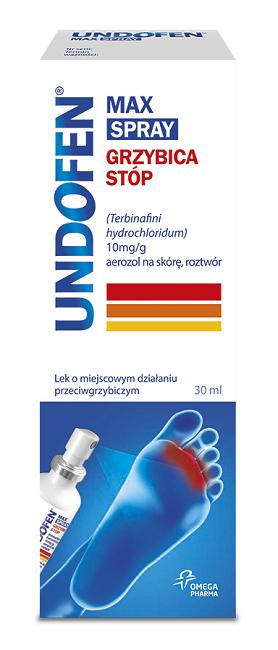 Undofen Max Spray Grzybica Stóp 30 ml