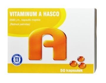 Vitaminum A Hasco 2500 j.m. kapsułki