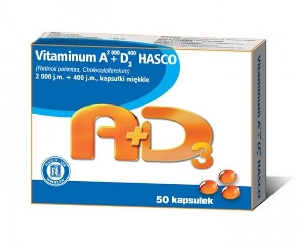 Vitaminum A2000+D3400 Hasco 50 Kapsułek