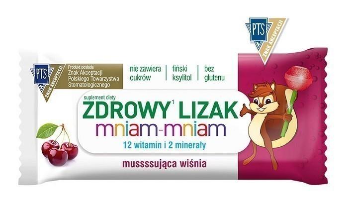 Zdrowy Lizak Mniam-Mniam Musująca Wiśnia 1 szt.