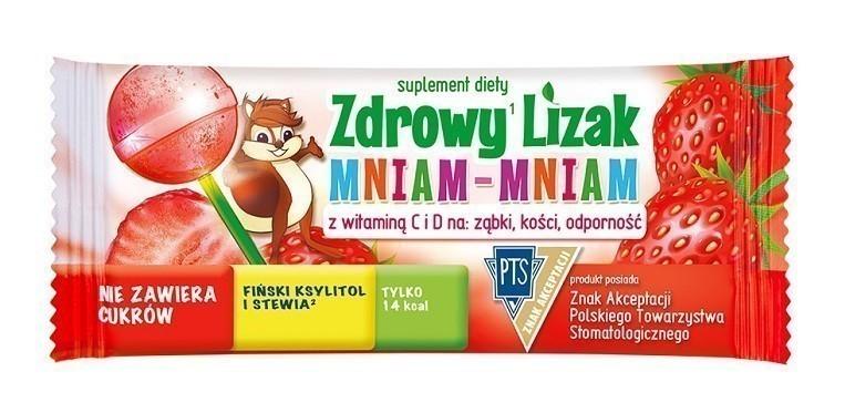 Zdrowy Lizak Mniam-Mniam Truskawka 1 szt.